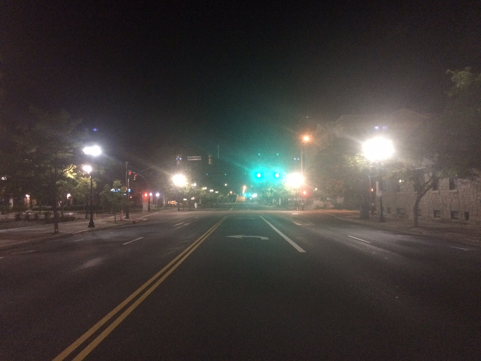 Standing in the middle of the street in a raging downtown Ogden at like 9:30pm.
