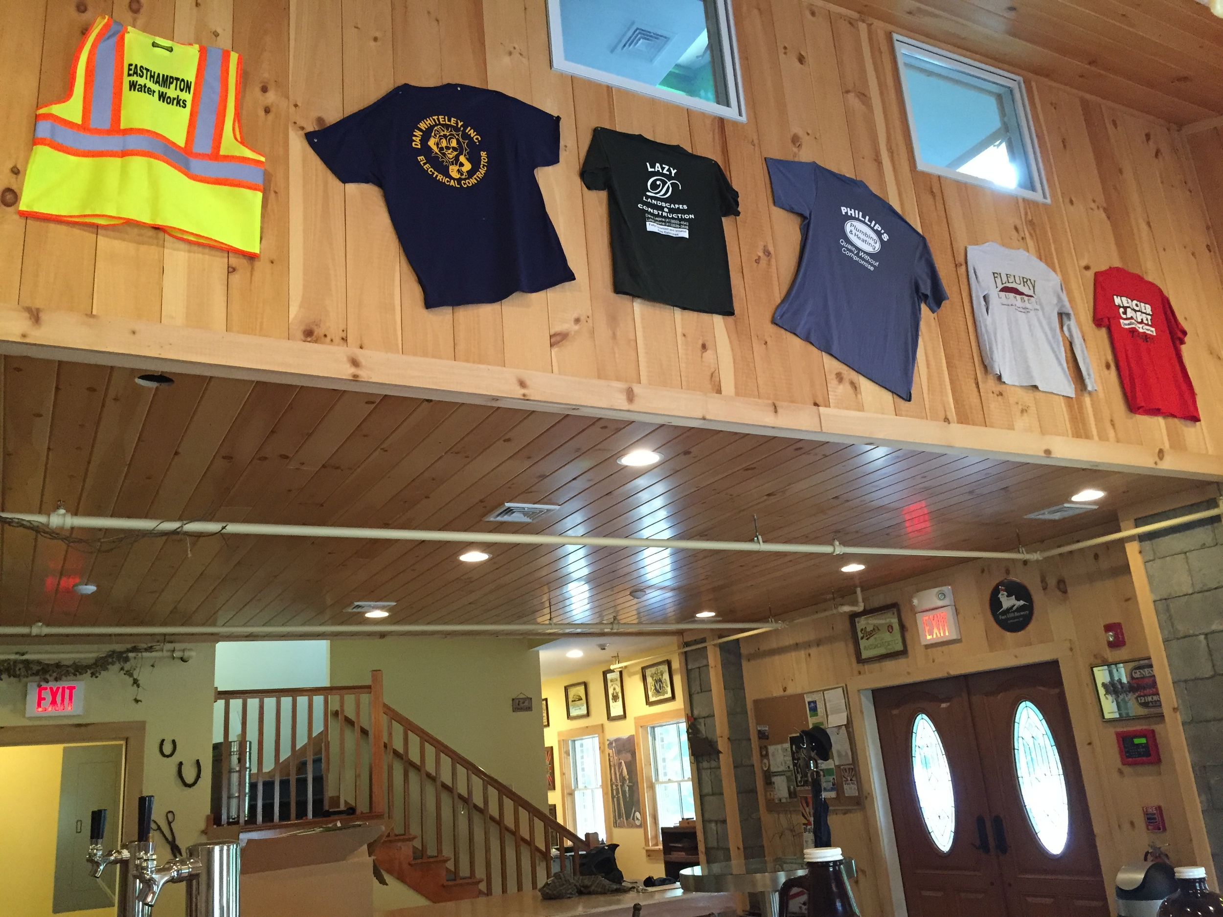 Many local contractors helped us along the way. Their shirts now hang in the tasting room.