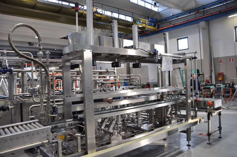Our kegging line from Italy
