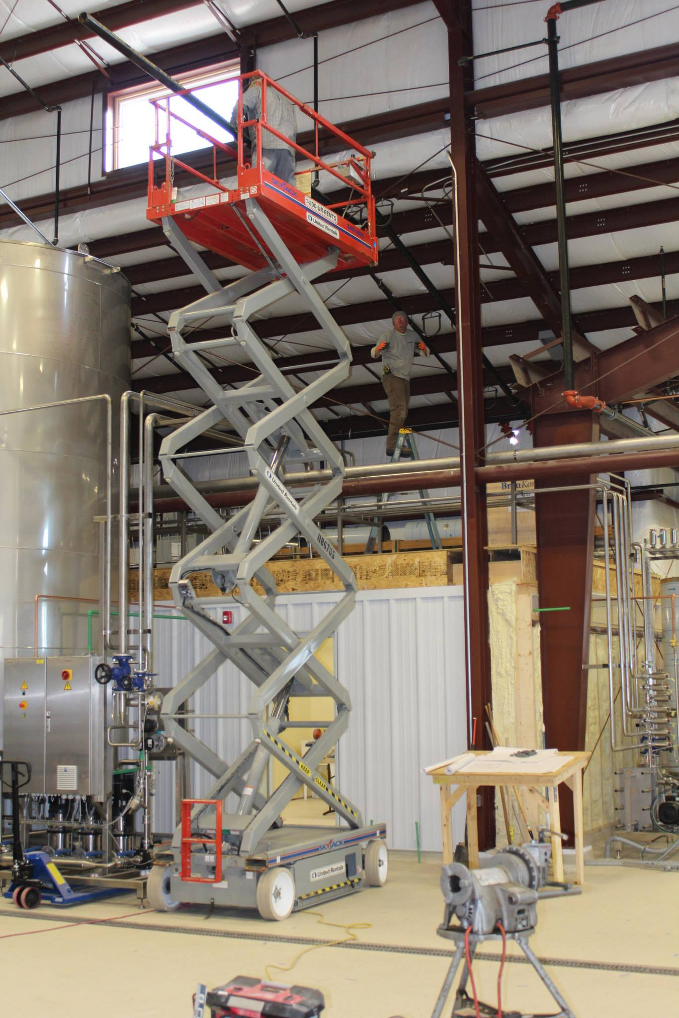 Boulanger's Plumbing of Northampton working on the glycol system