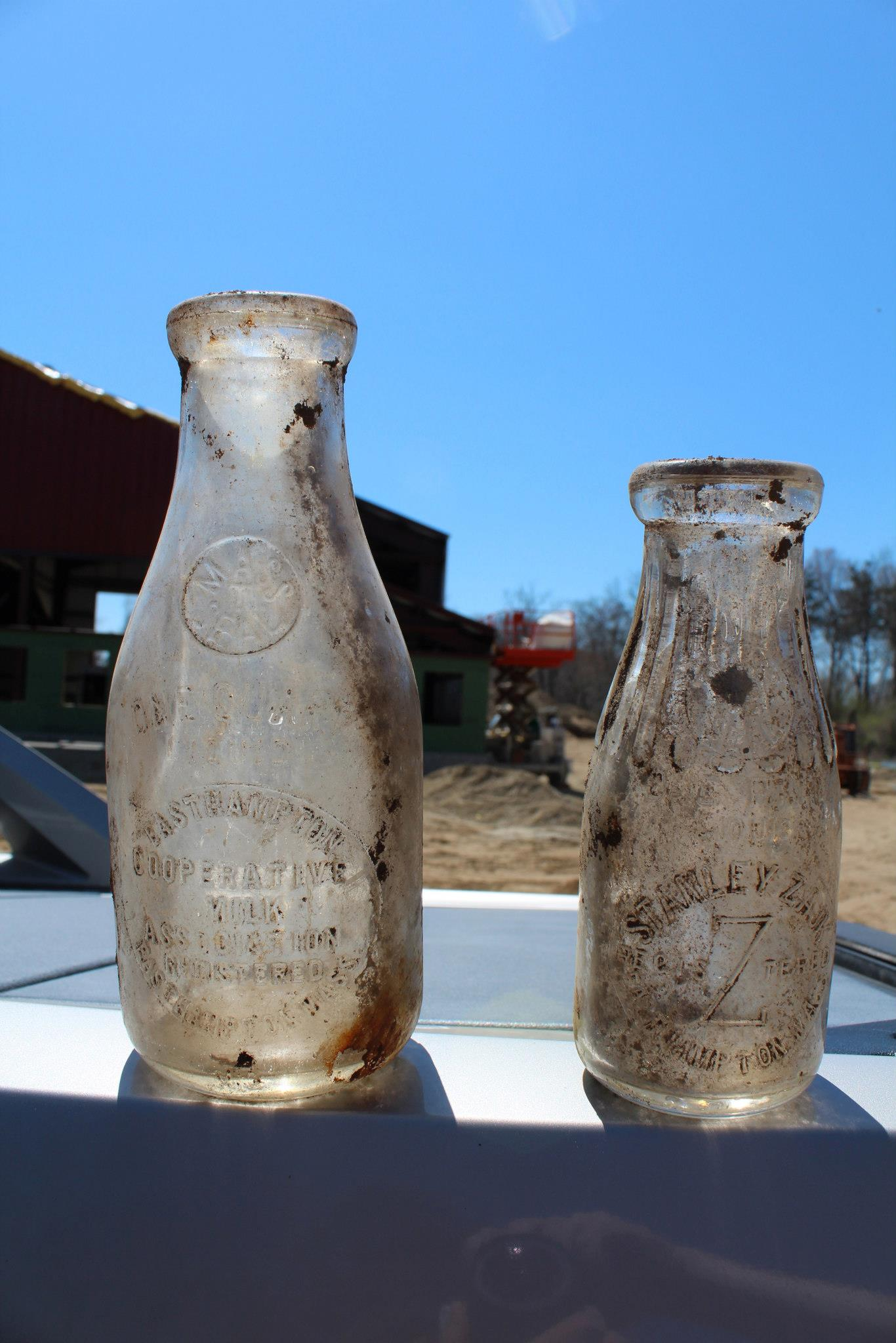 Bottles also found buried in the field