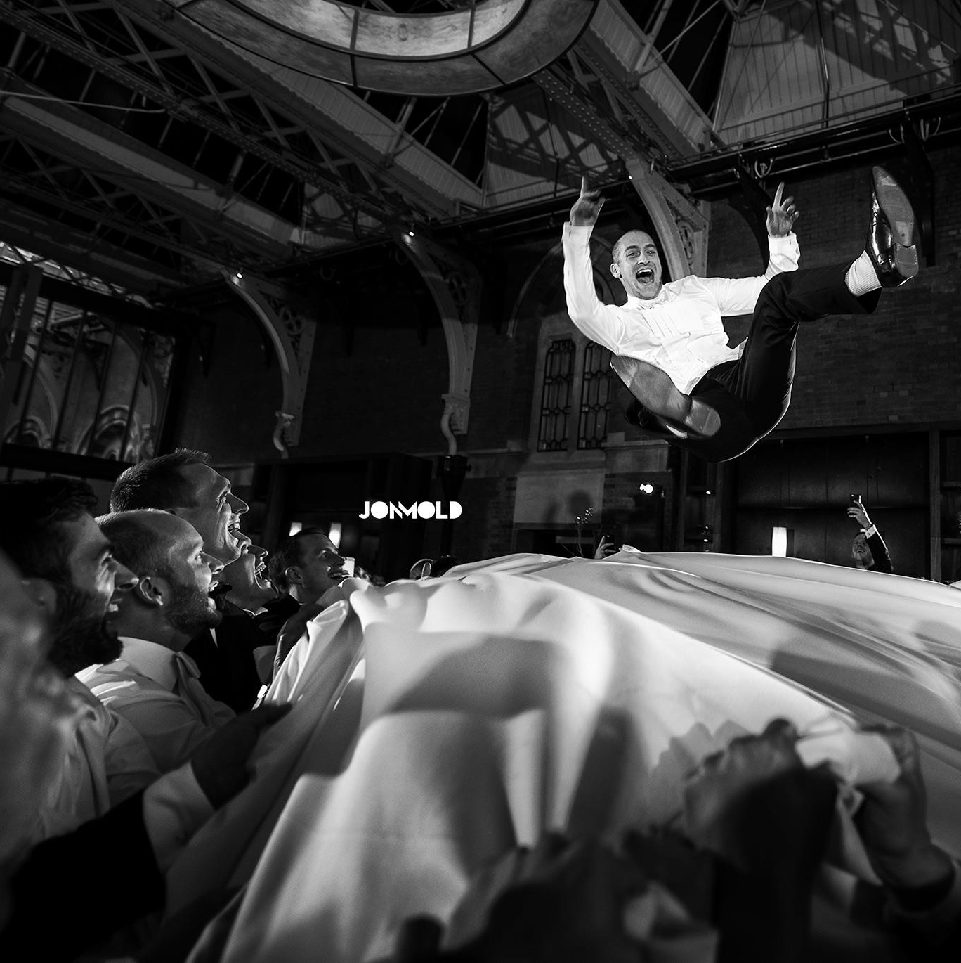 Me flying through the air on my wedding day - image by the incredible  Jon Mold .