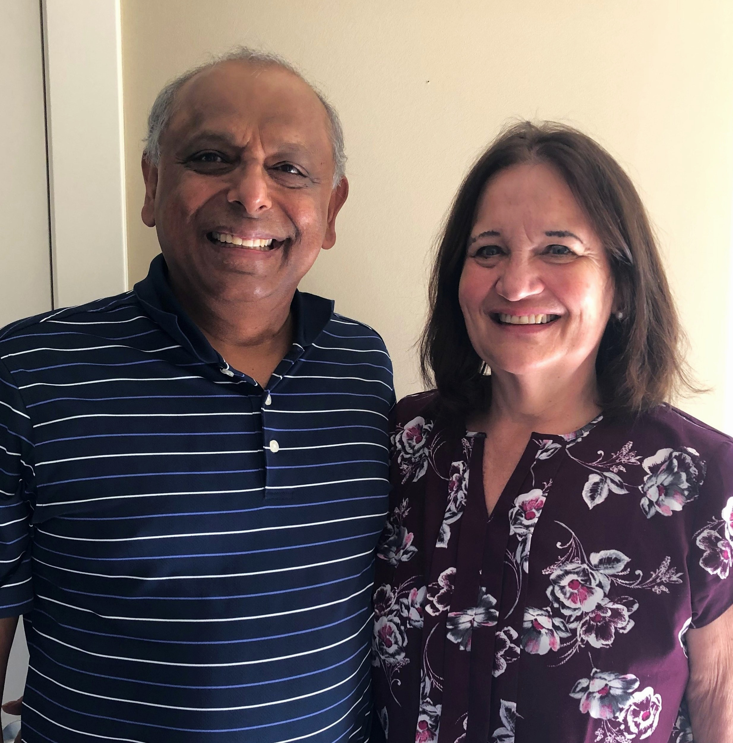 Santosh and Ruth Krishnan have increased their gift to $50,000 in support of the Capital Campaign.