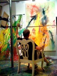 Scotty in his studio on Ossington in Toronto November 2009.