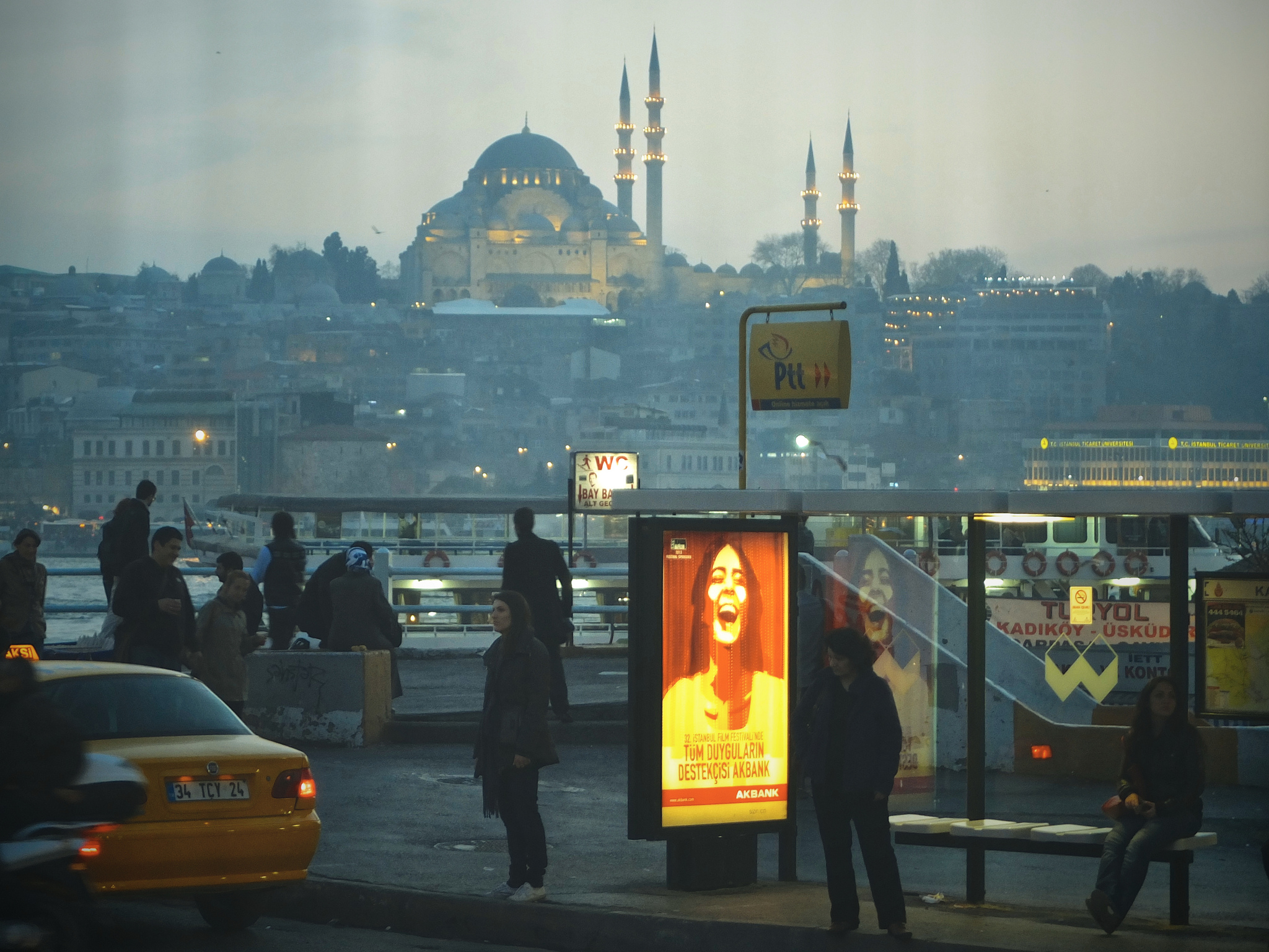 In Karakoy looking over the Golden Horn towards the Süleymaniye Mosque, Istanbul