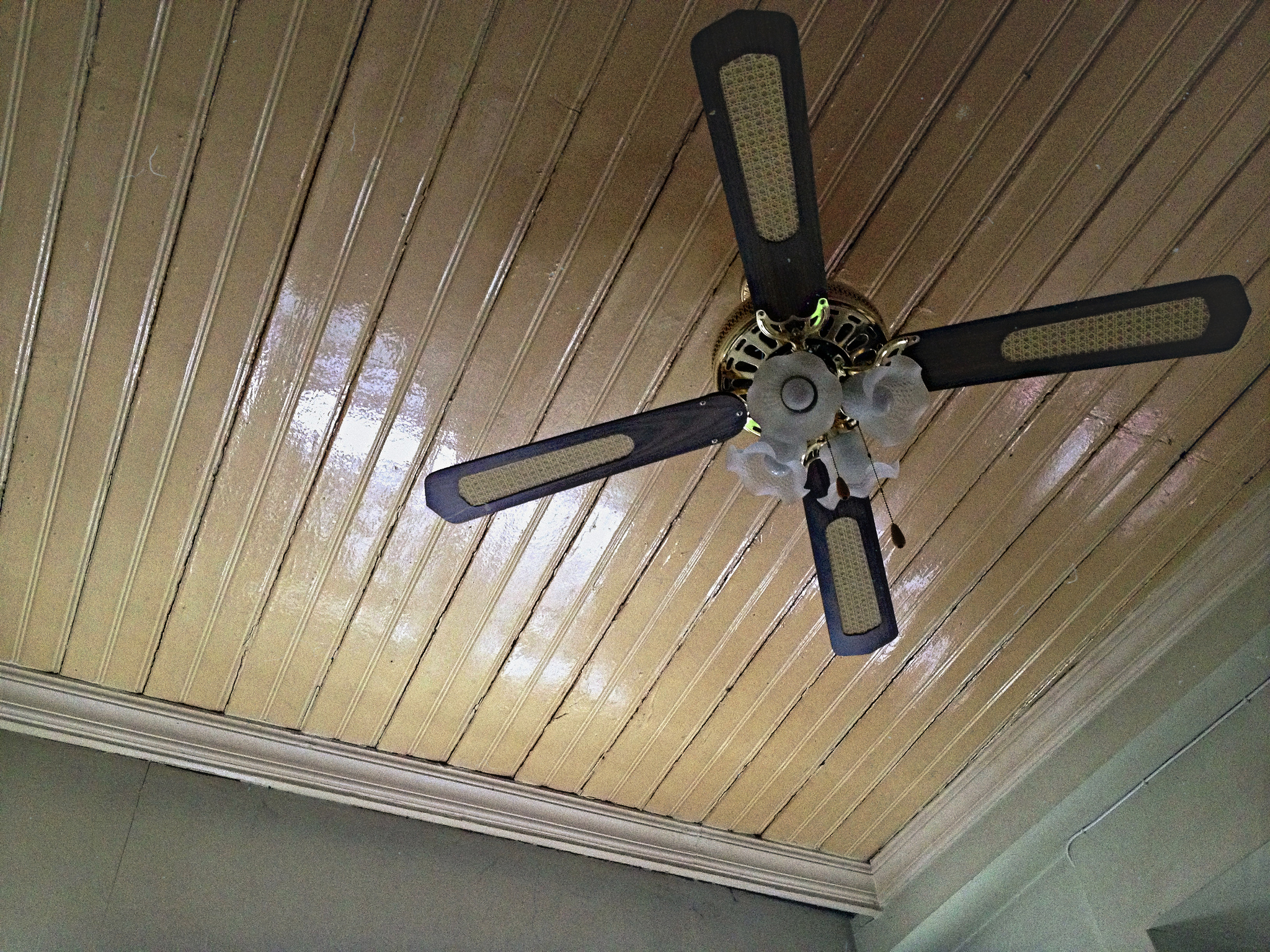 Ottoman ceiling and modern fan