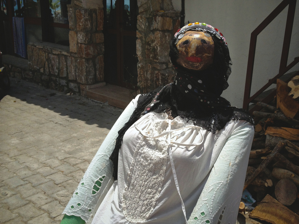 Mannequin in folk costume, Akyaka