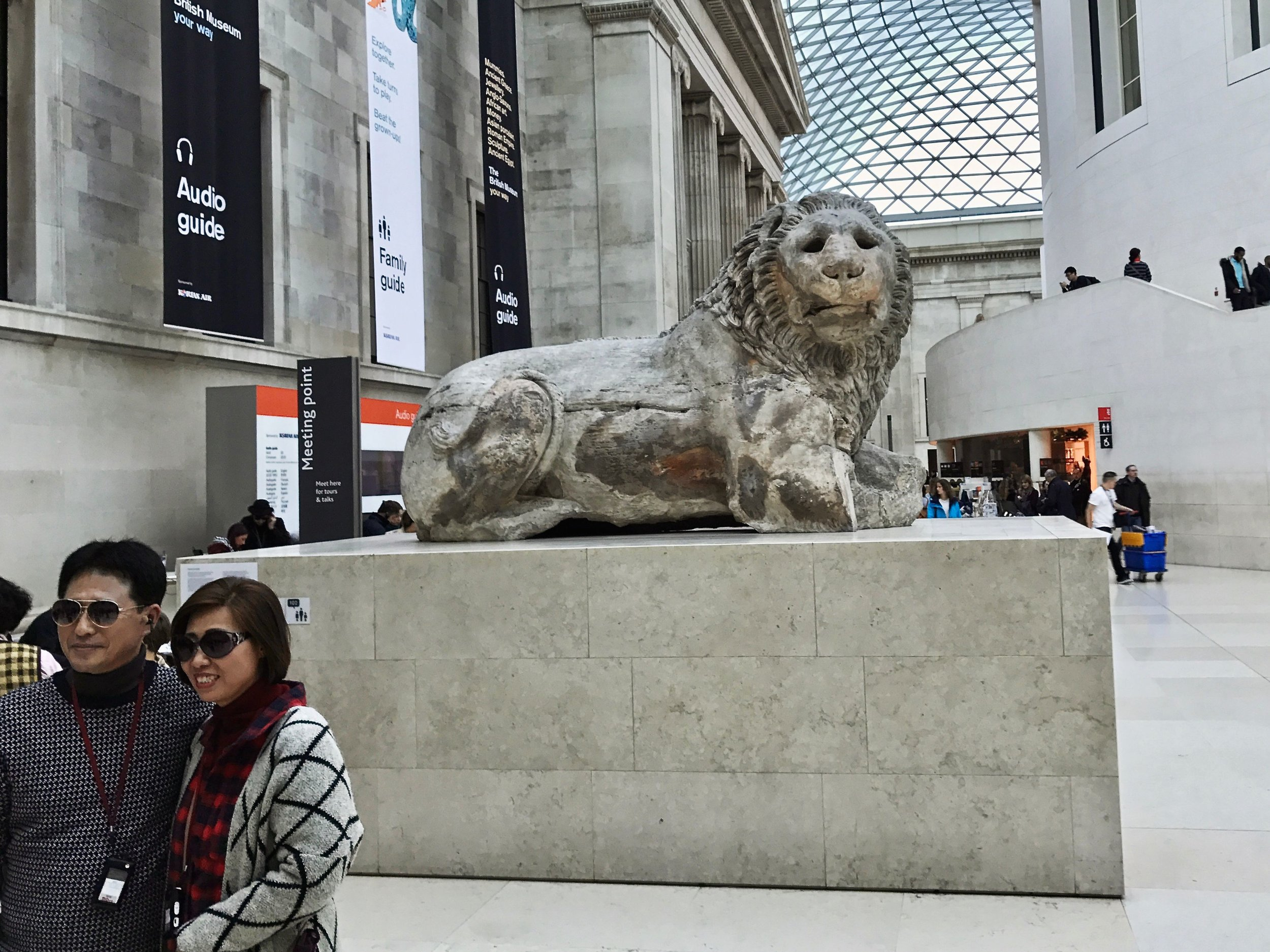 The Lion of Knidos in the Great Court of the British Museum