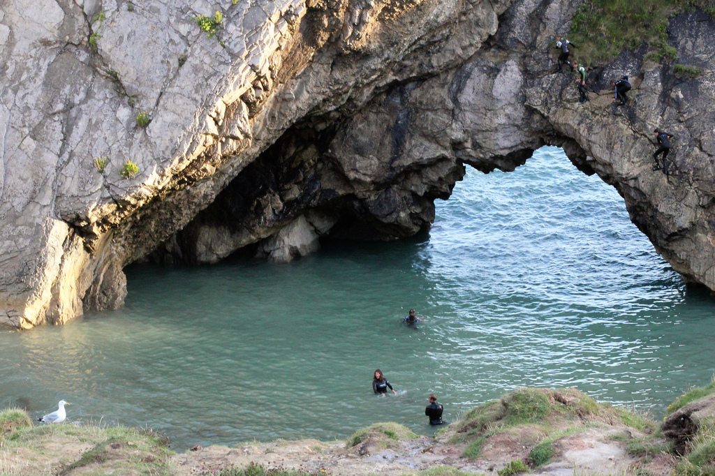 Swimmers at Stair Hole, Dorset