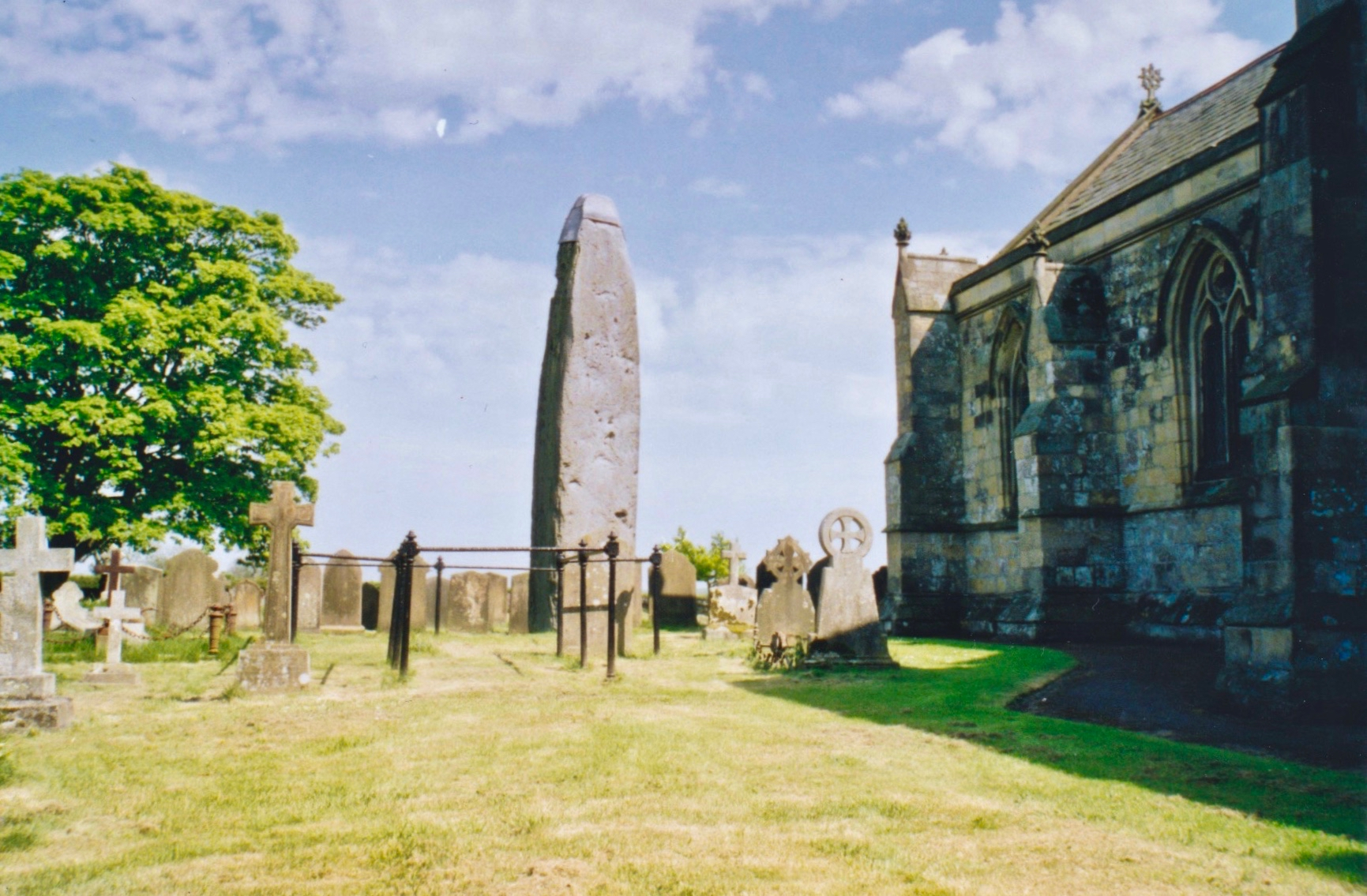 The Rudston Monolith at over 7.6 metres (25 ft) is the tallest megalith (standing stone) in the United Kingdom.