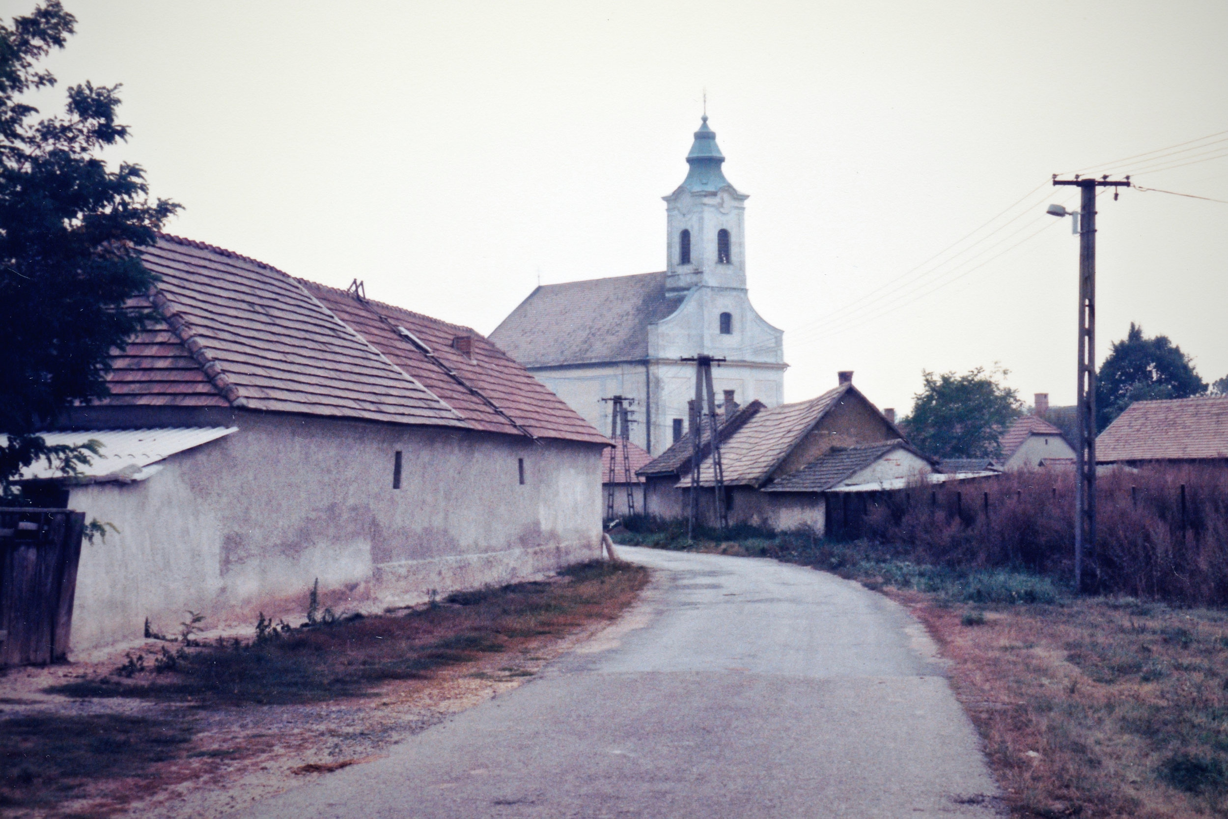 Back lane to the church