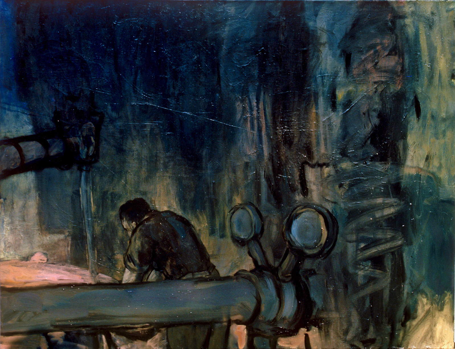 Study for the blue conduit