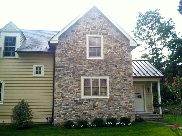 Stonework done in 2012 to match original 1739 style.