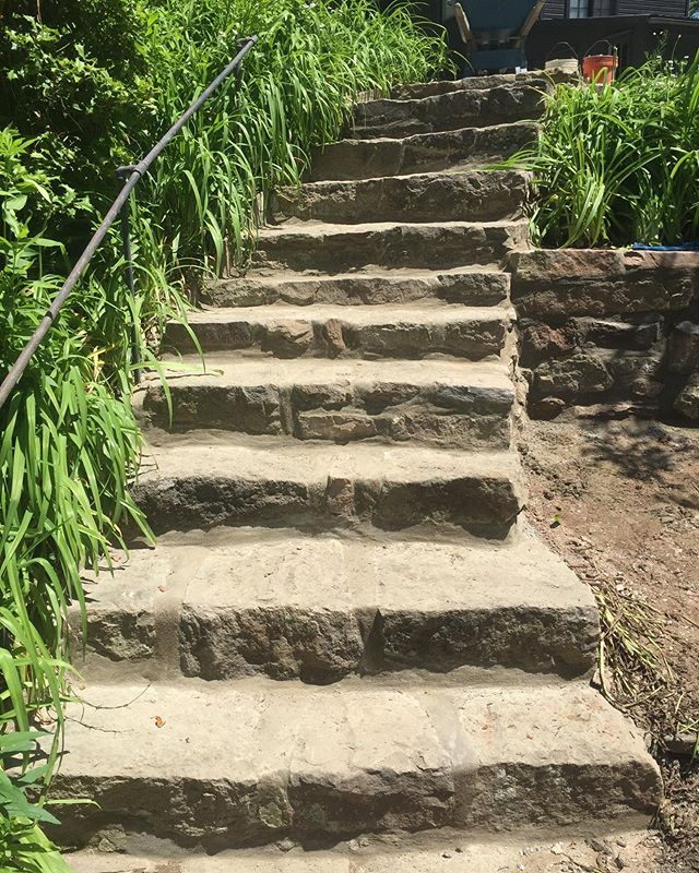 Stone step restorations by @americanstonels (after/before)