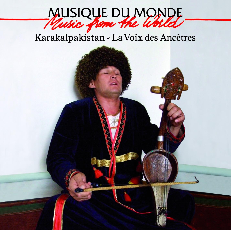 Page de couverture du premier CD-DVD consacré à la musique traditionnelle des Karakalpaks