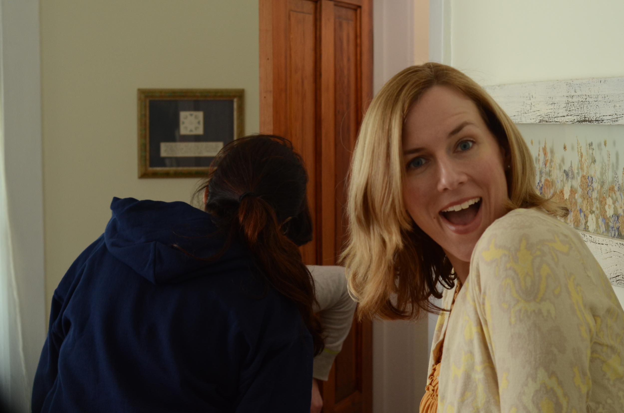 Actress-Producer Grace McPhillips on the set of The Other One