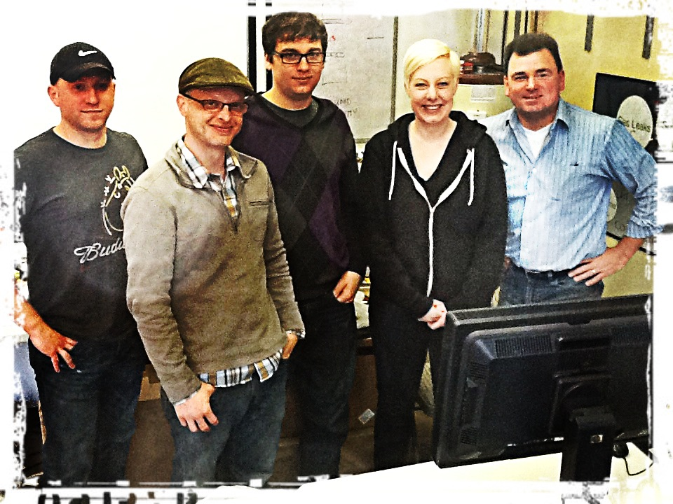 Rick Hohmann of HP came to work with our Editors Melissa Lawrenz and Graham Metzger, plus our assistant/ DIT Andrew Neimchick, and DP Christian Hins was on hand to check it out too.
