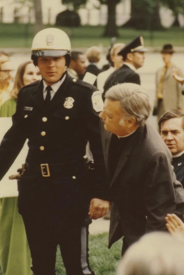 Rev. Julian McPhillips, in a peaceful protest against the Vietman war.