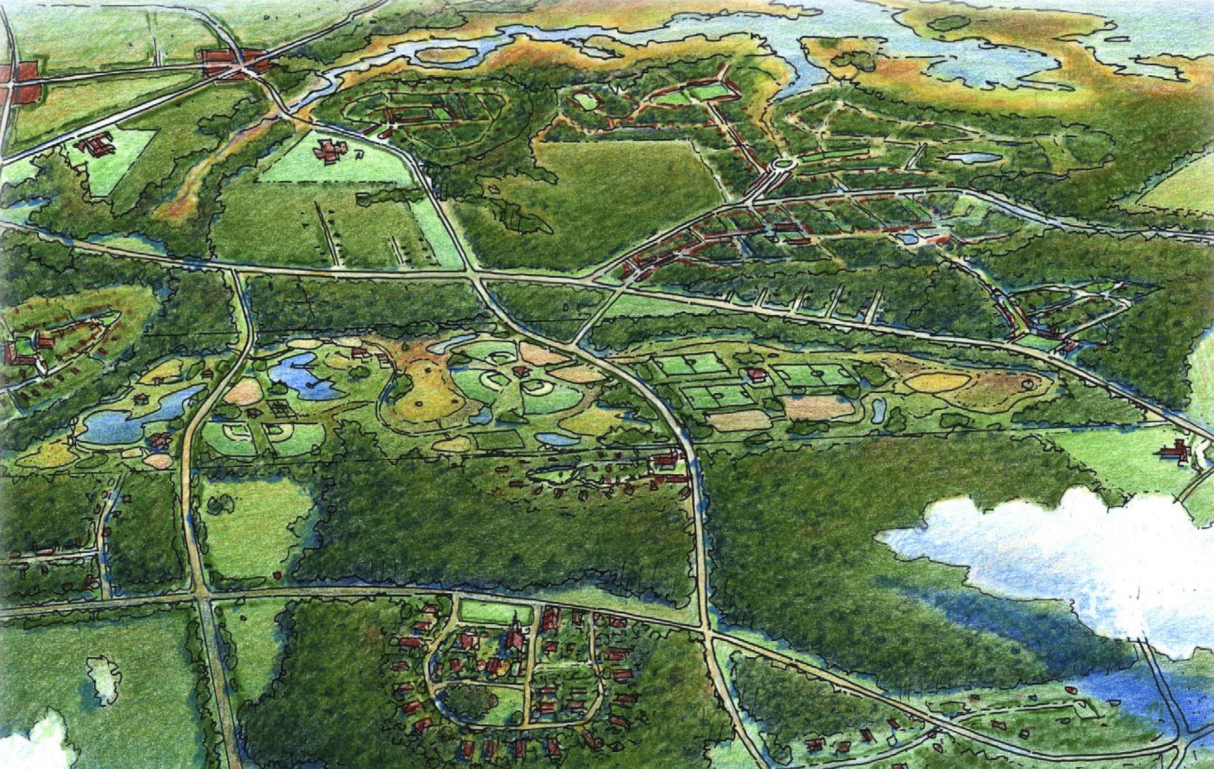 Burton Area Conceptual Sector Plan illustration