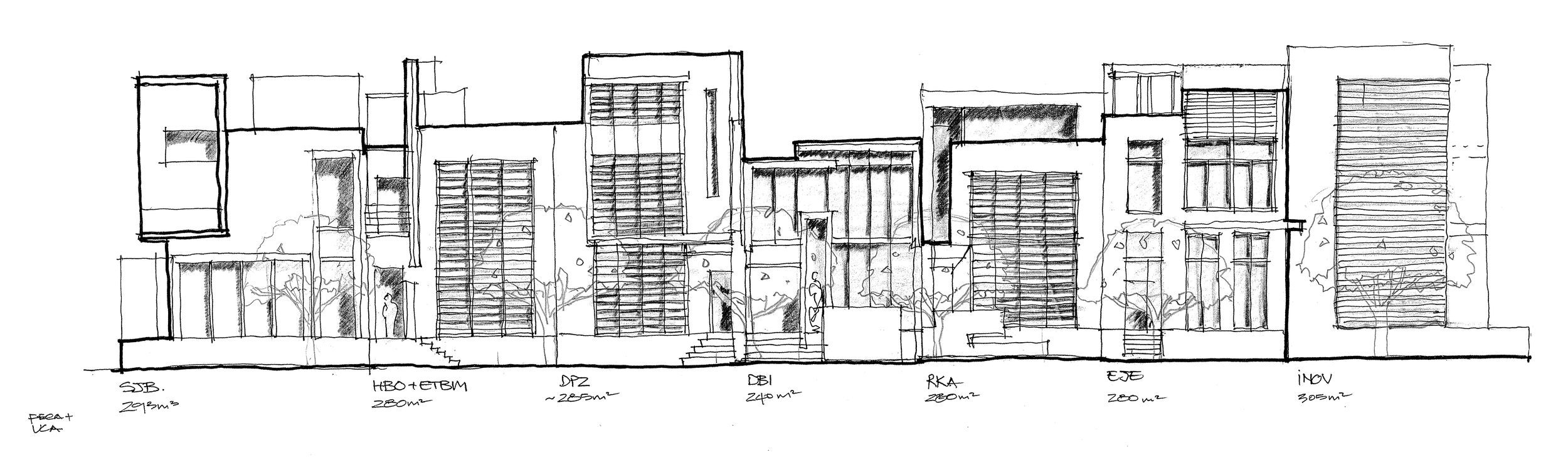 Paradise Point schematic architecture