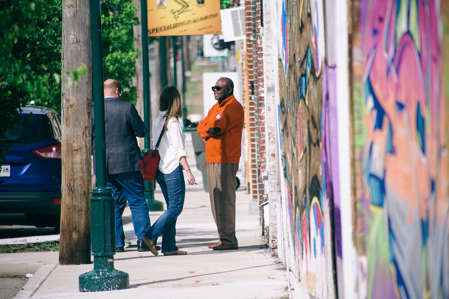 To begin the workshop, East Chattanooga residents and business owners led their teams on a tour of the neighborhood they love. (Credit:  Our Ampersand Photography )