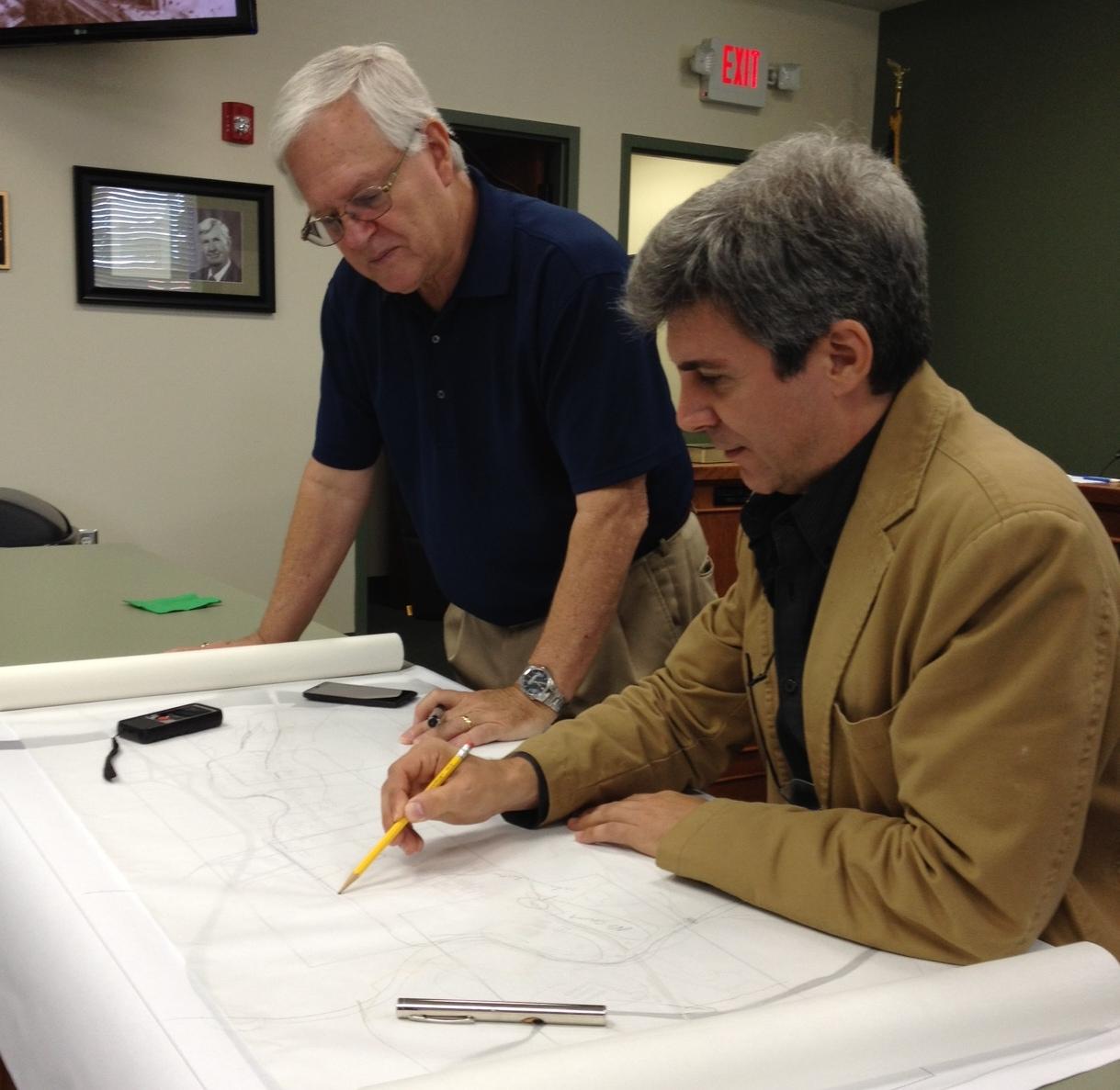 Demetri Baches and Rick Hall at workshop