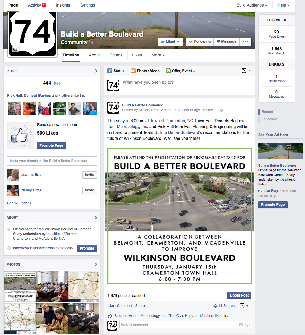 Build a Better Boulevard Facebook page
