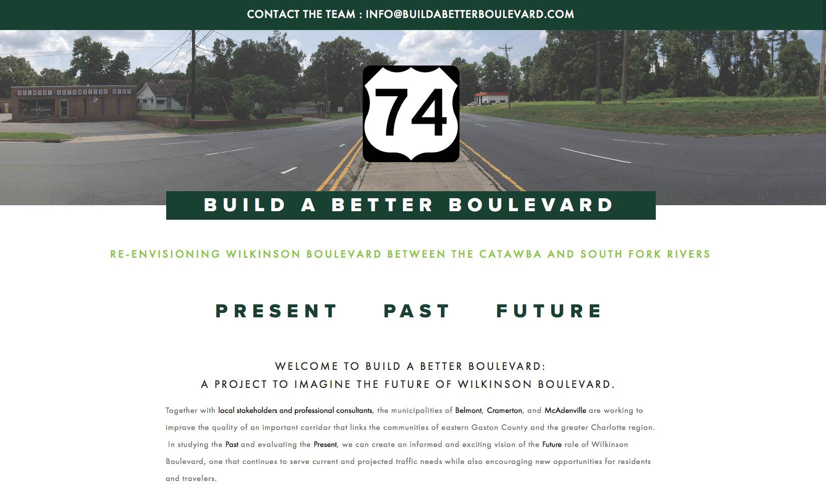 Build a Better Boulevard website