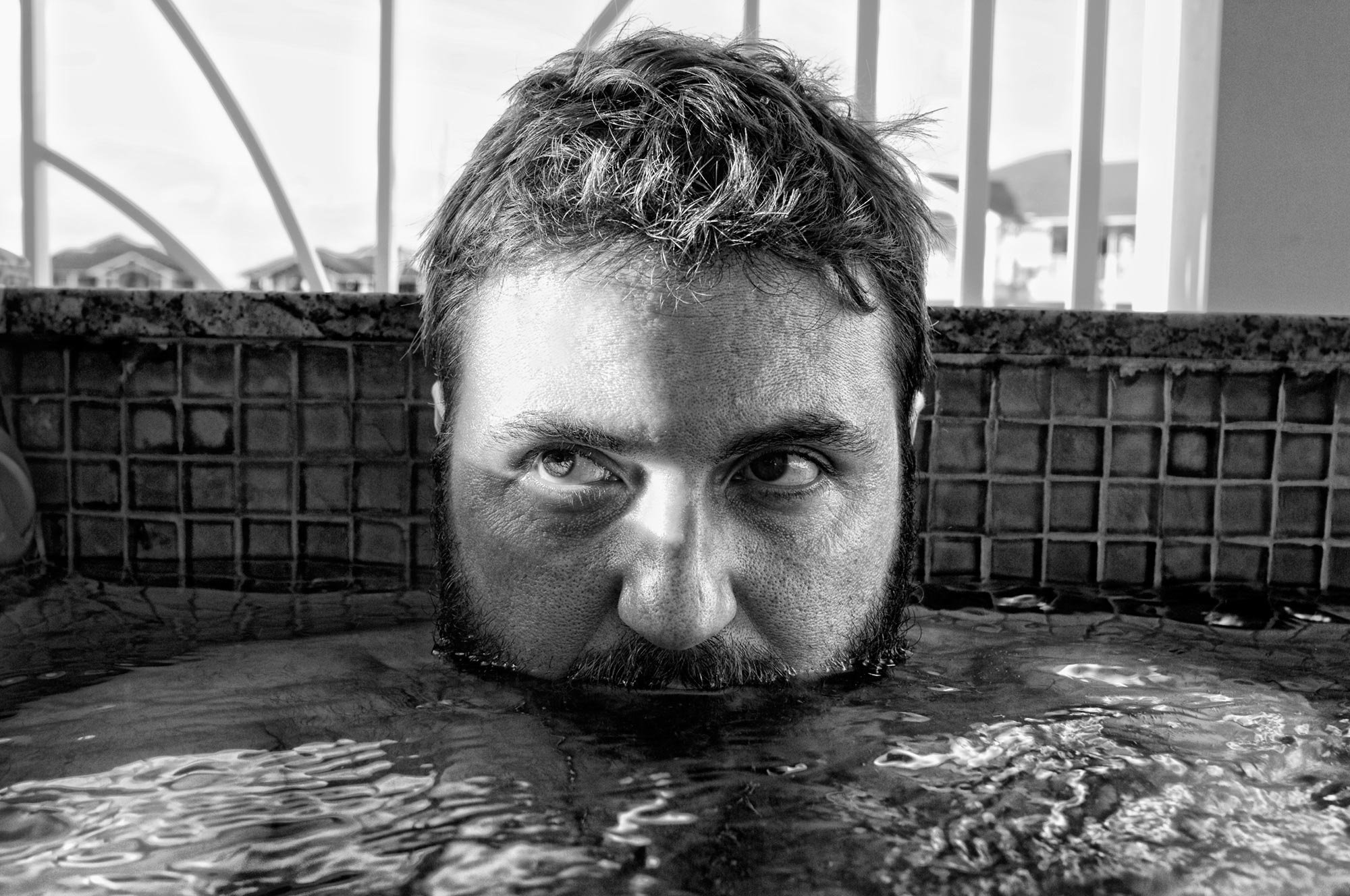 Mikeinpool-b&w.jpg