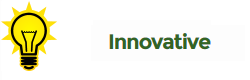 "Light bulb with heading ""Innovative"""