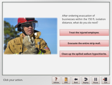 Hazmat Response Demo Screenshot