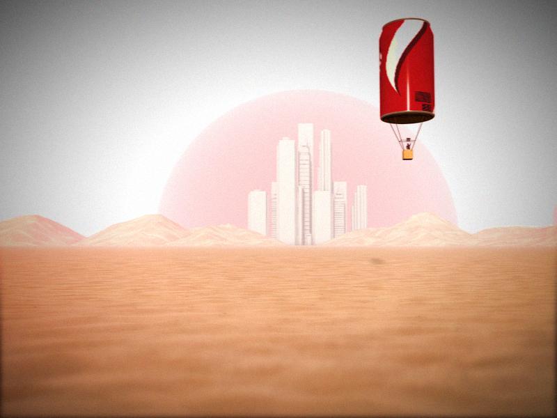 Coke Can Balloon