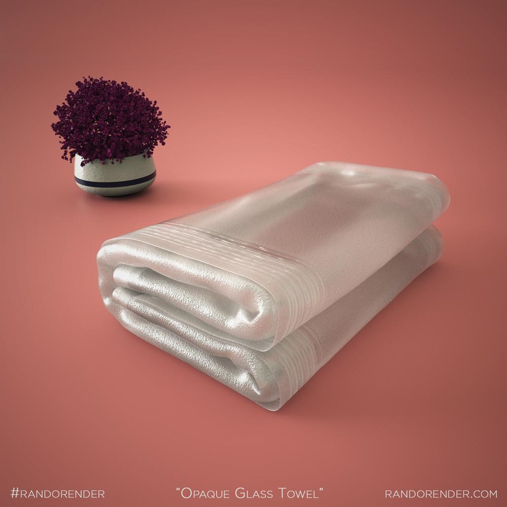 Opaque Glass Towel