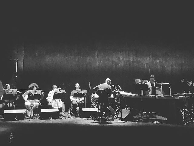@bcarterwells working with the new band for the #triptych show last night at the @kennedycenter