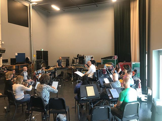 Rehearsing for this week's performances of @brycedessner #triptych at the @hollandfestival with the wonderful @askoschon