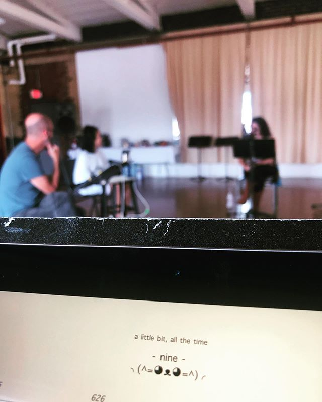 Working on #alittlebitallthetime by @americancomposersforum finalist @mingjiamusic is like pulling childhood memories out of a treasure chest.