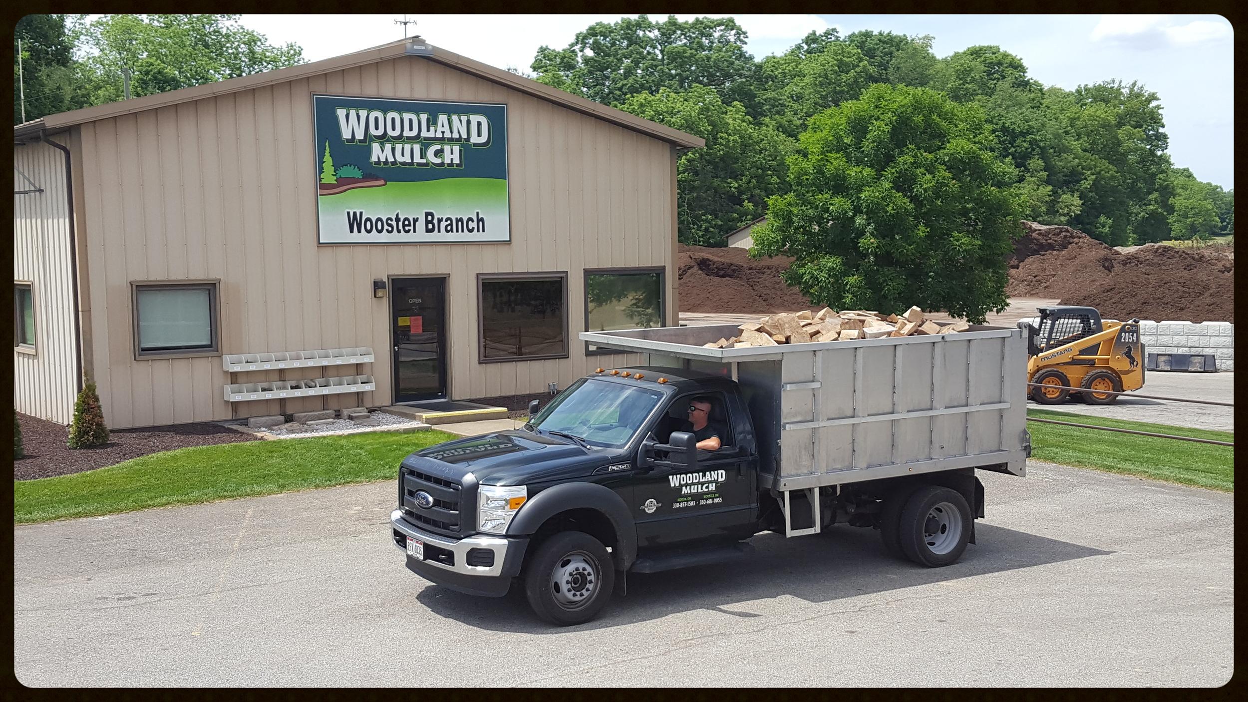 woodland mulch firewood load