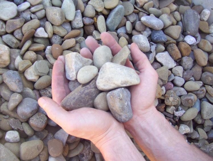#4 Washed landscape gravel brown