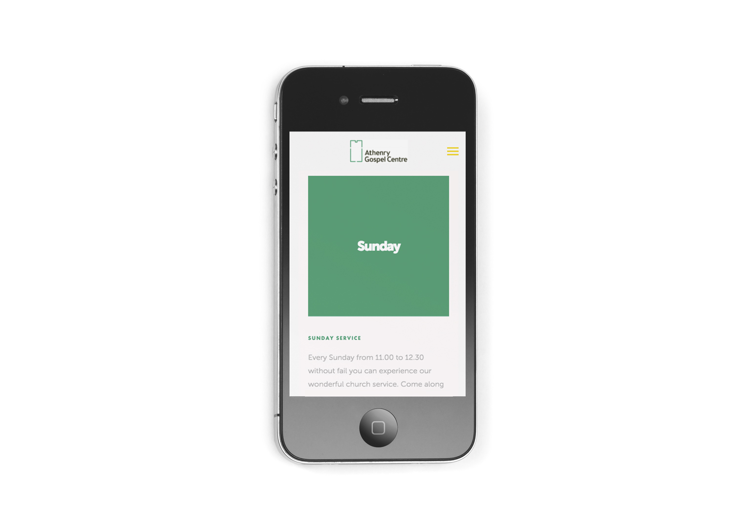 Information page of Squarespace site