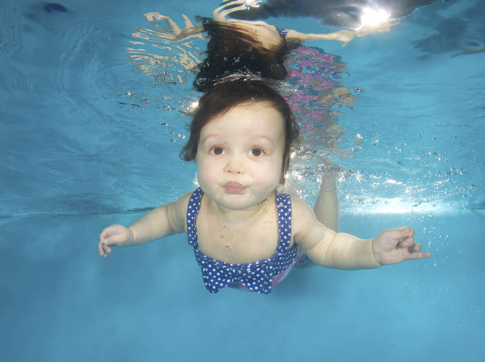 Annabelle underwater at a photo shoot in Nottingham.