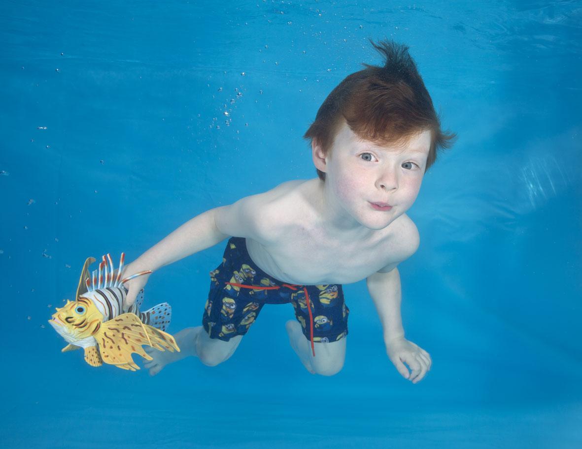 Child underwater