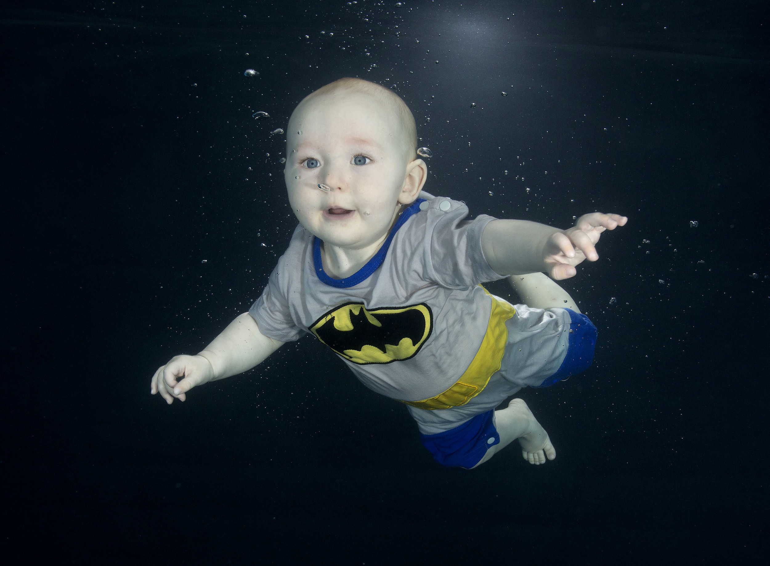 Batman baby underwater