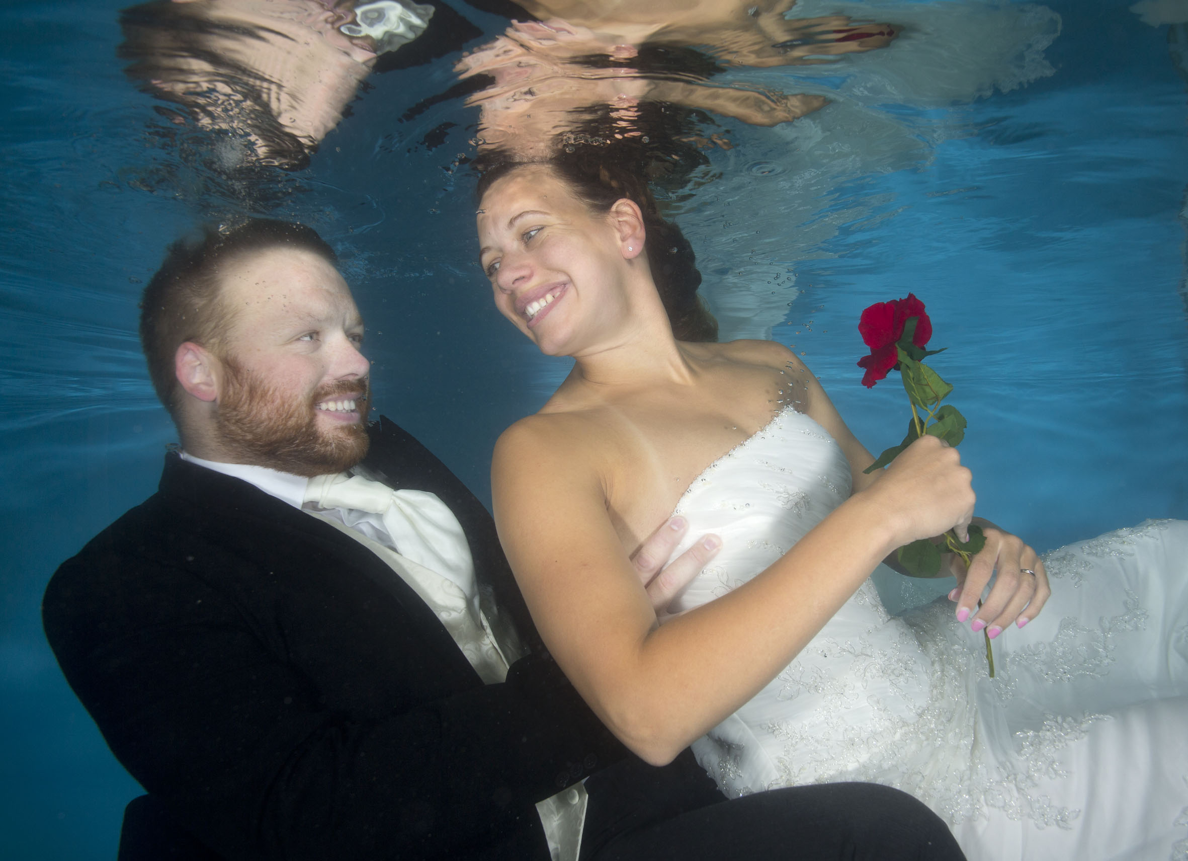 Celebrating 6 years of marriage with a splash!