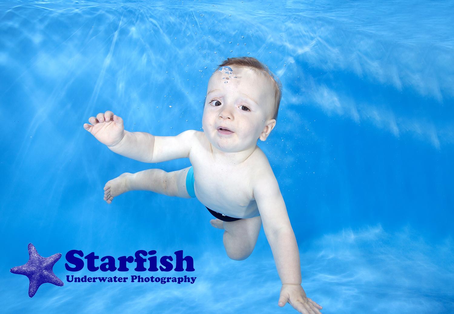 Carrick swimming underwater