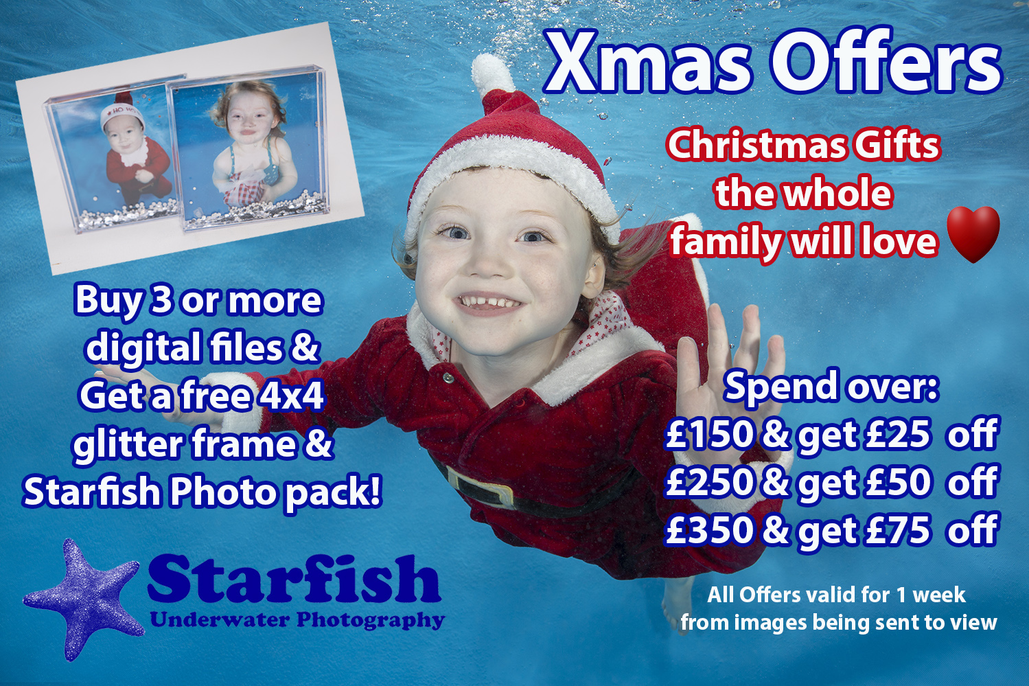 Book your Christmas shoot now to take advantage of out fantastic offers!