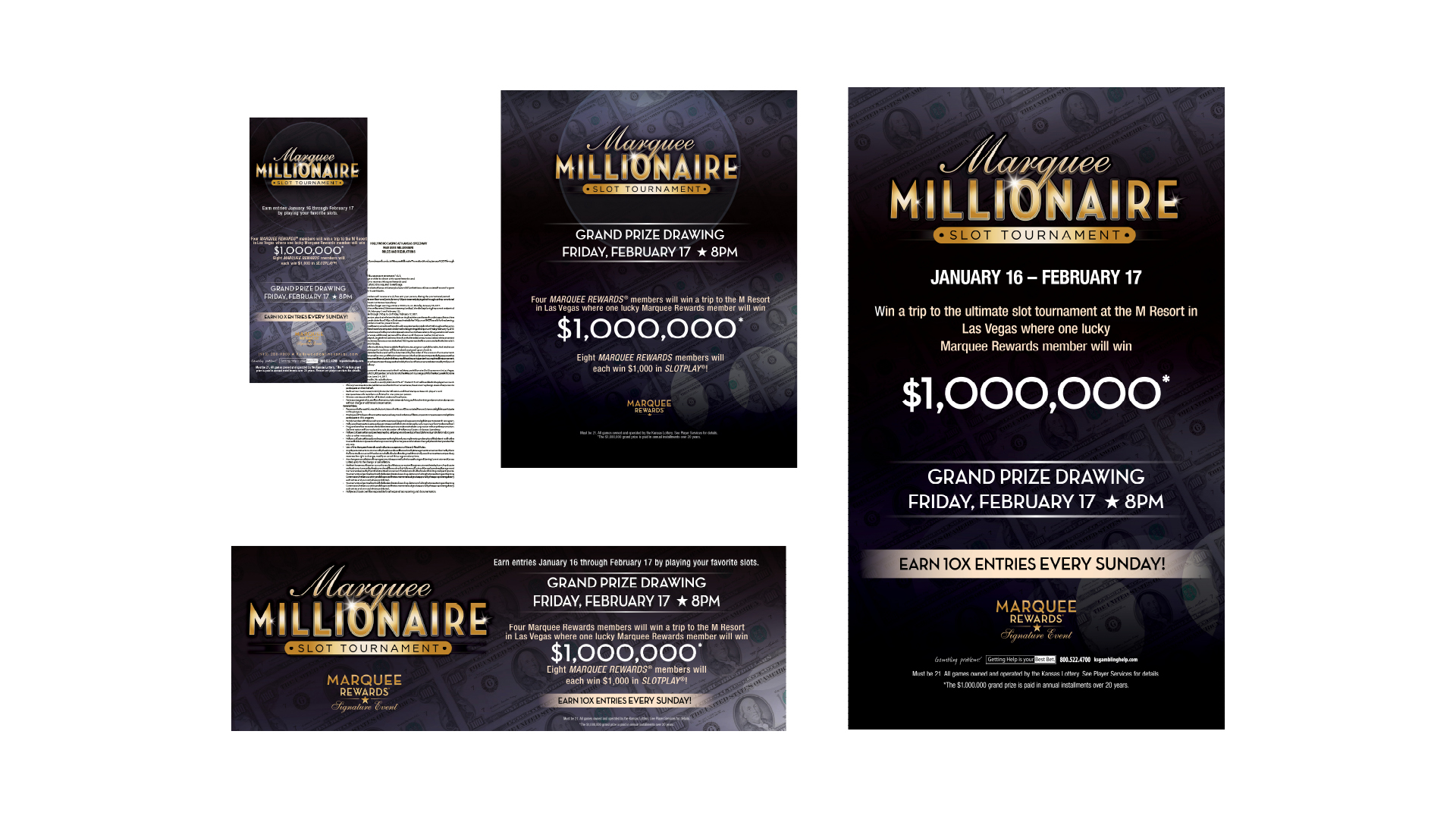 Marquee Millionaire Promotional Materials