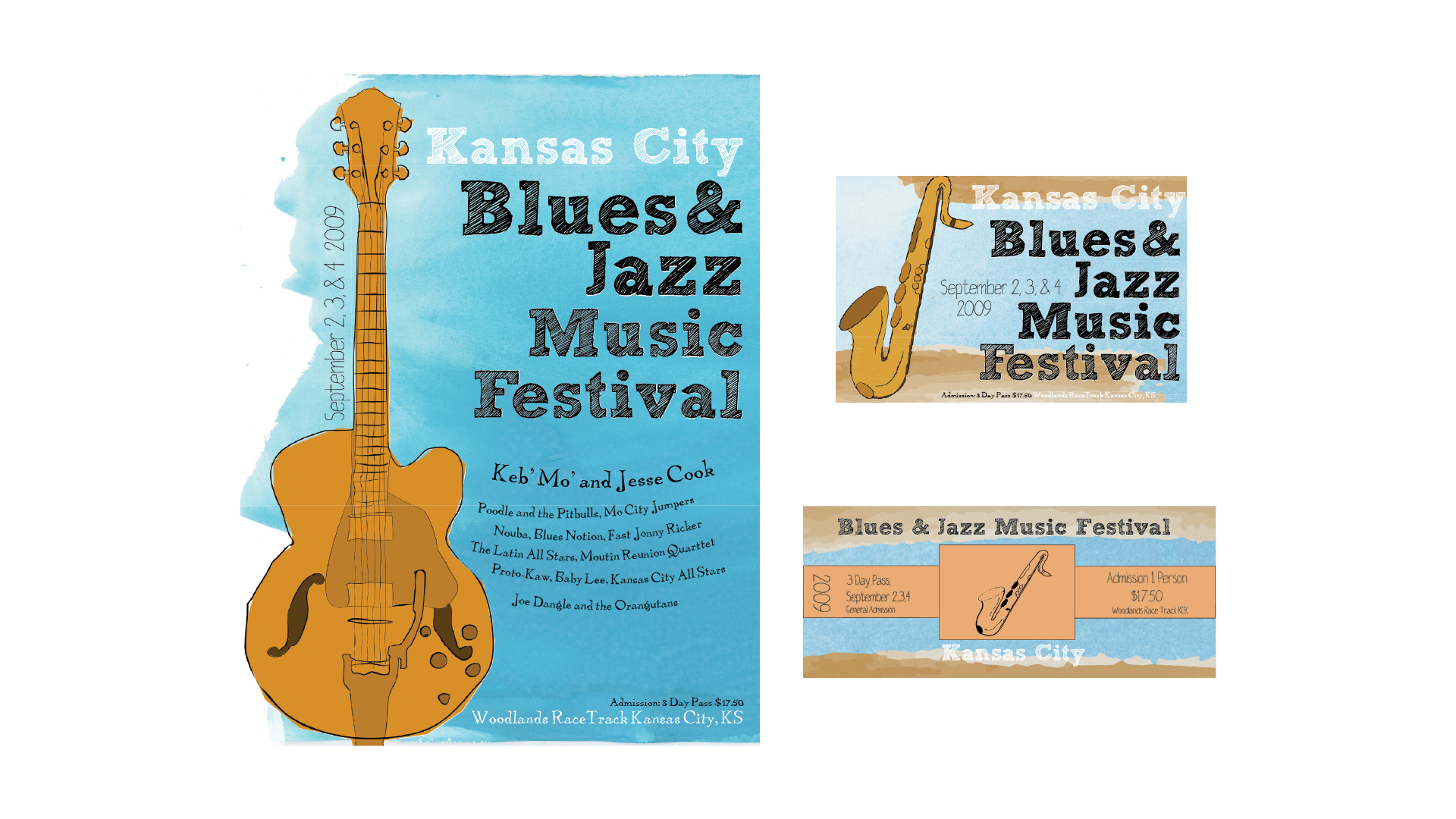 Kansas City Blues and Jazz Music Festival Collateral Materials