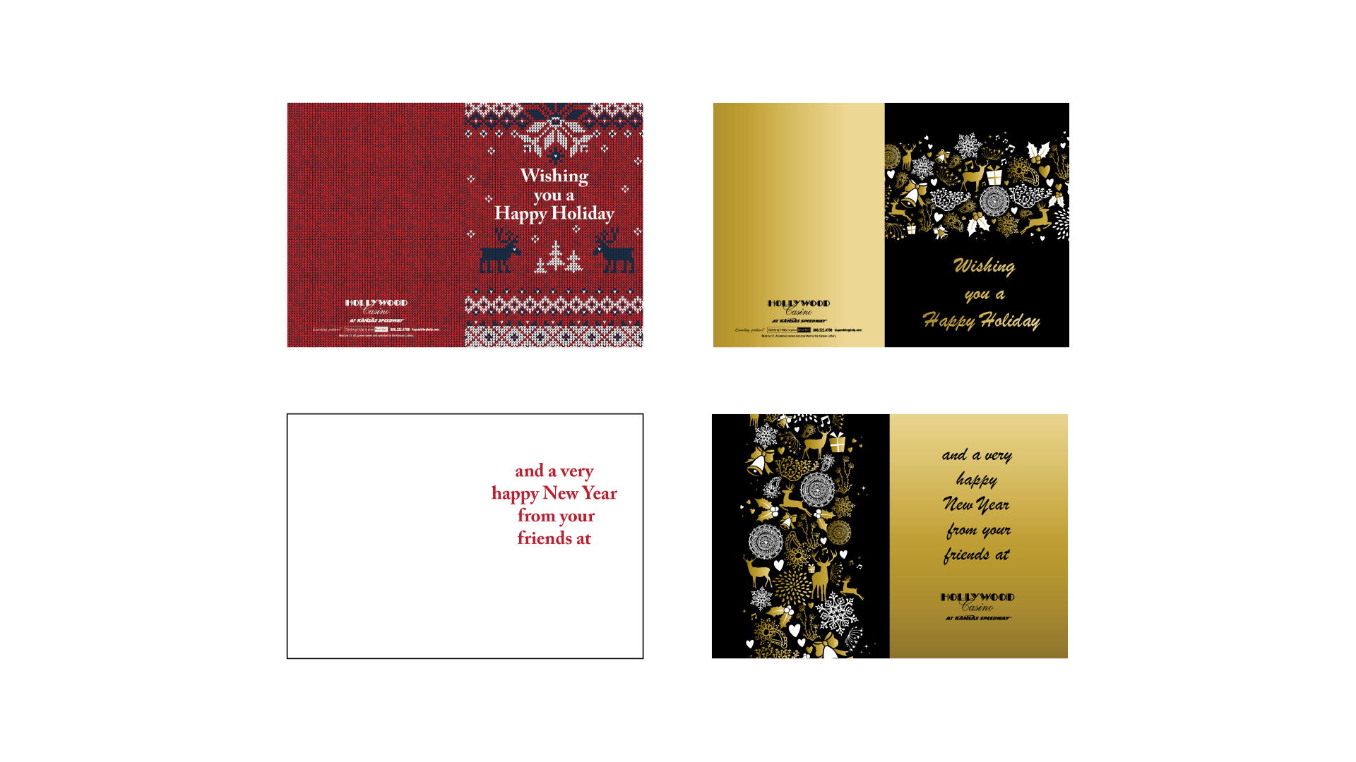 Hollywood Casino Holiday Cards