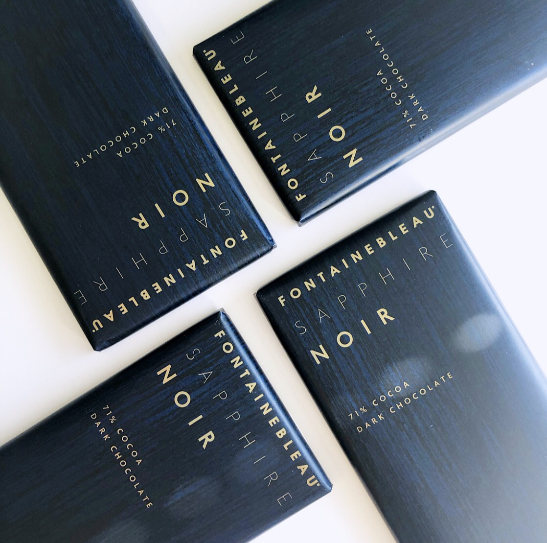 Fontainebleau Sapphire Noir Chocolate Packaging Design and Branding for Fontainebleau Hotel Miami
