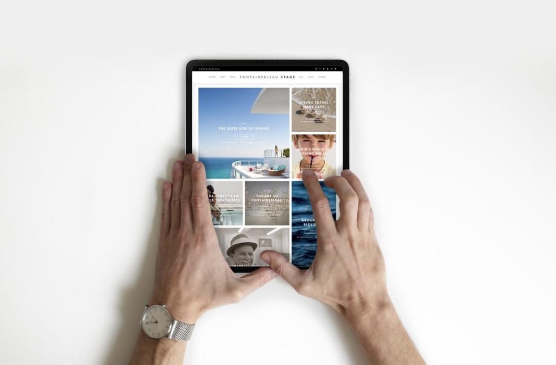 Fontainebleau Hotel Blog/Content Website design